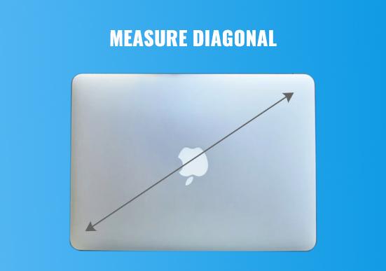 Medición de la longitud diagonal del portátil
