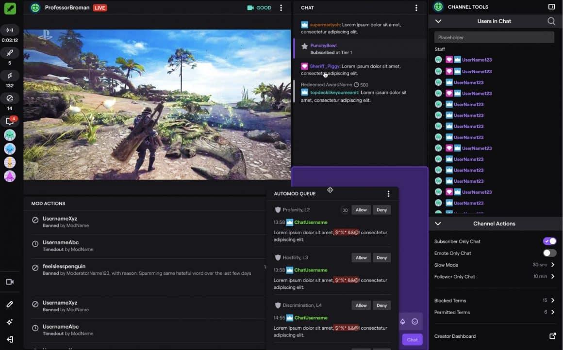 Compruebe los registros de chat de Twitch como moderador