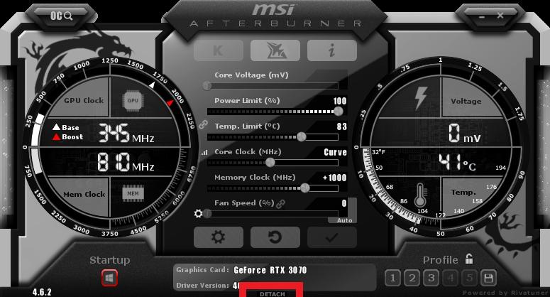Monitorización de Msi Afterburner 1